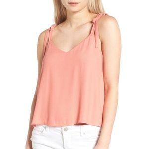 LUSH Peach Tie Shoulder Camisole Top